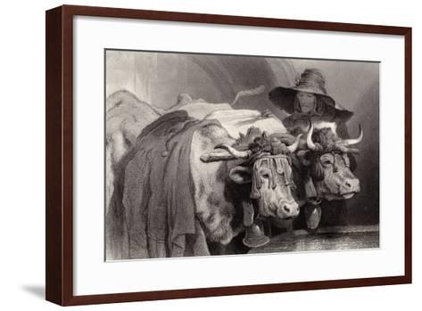 Oxen at the Tank, Geneva, Switzerland-Edwin Henry Landseer-Framed Art Print