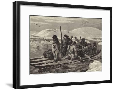 The American Franklin Search Expedition--Framed Art Print
