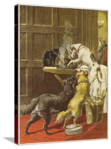 Christmas Day, the Uninvited-Samuel Edmund Waller-Stretched Canvas Print