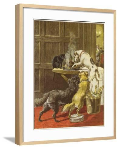 Christmas Day, the Uninvited-Samuel Edmund Waller-Framed Art Print