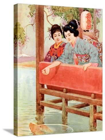 Japanese Women--Stretched Canvas Print
