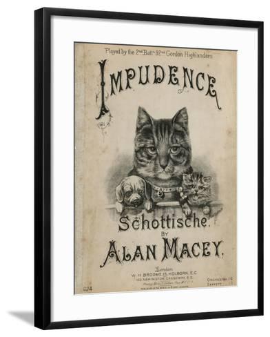 Impudence--Framed Art Print
