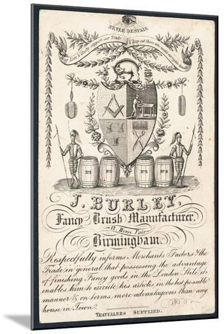 J Burley, Fancy Brush Manufacturer, Trade Card--Mounted Giclee Print
