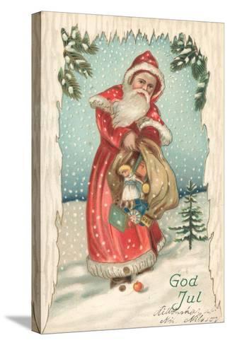 Santa-German School-Stretched Canvas Print