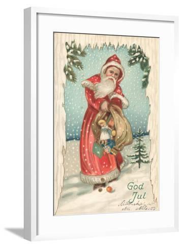 Santa-German School-Framed Art Print