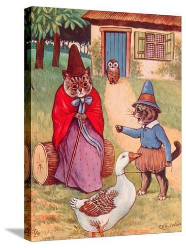 Mother Goose at Home-Louis Wain-Stretched Canvas Print