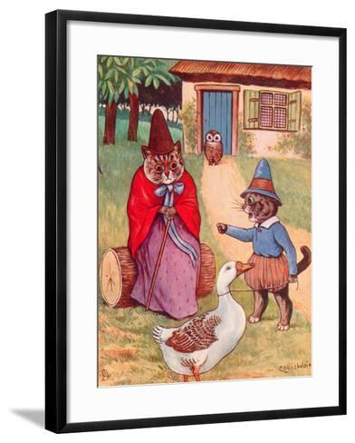 Mother Goose at Home-Louis Wain-Framed Art Print