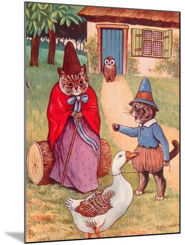 Mother Goose at Home-Louis Wain-Mounted Giclee Print