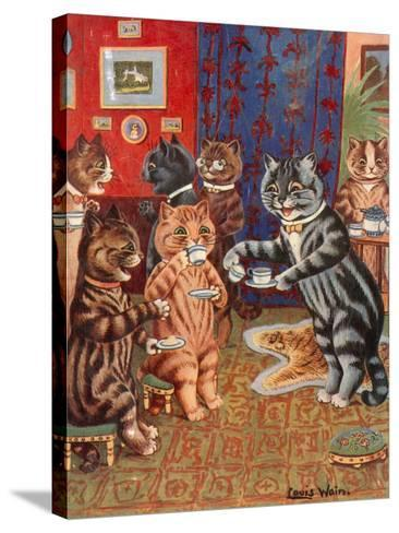 Taking Tea-Louis Wain-Stretched Canvas Print