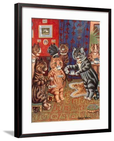 Taking Tea-Louis Wain-Framed Art Print