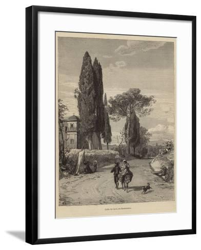 Road from Cavi to Genazzano--Framed Art Print