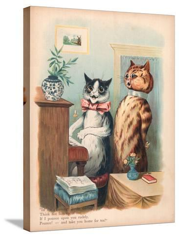 Louis Wain Cats-Louis Wain-Stretched Canvas Print