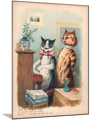 Louis Wain Cats-Louis Wain-Mounted Giclee Print