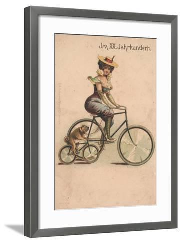 Card Celebrating the Turn of 1900-German School-Framed Art Print