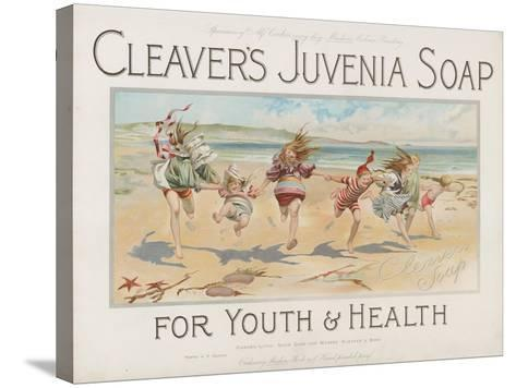 Cleaver's Juvenia Soap for Youth and Health--Stretched Canvas Print