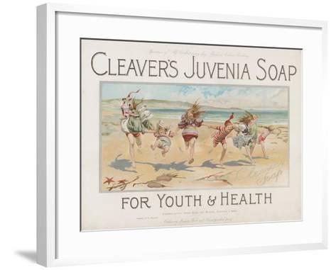 Cleaver's Juvenia Soap for Youth and Health--Framed Art Print