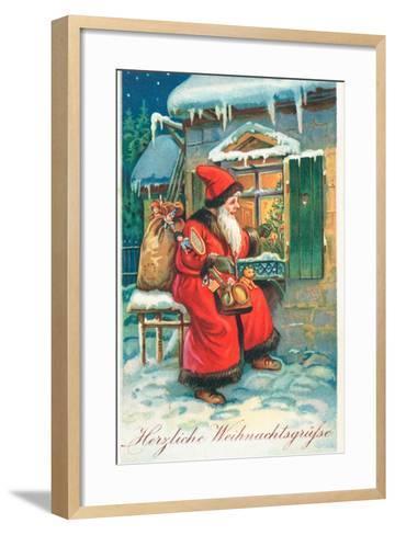 Father Christmas-German School-Framed Art Print