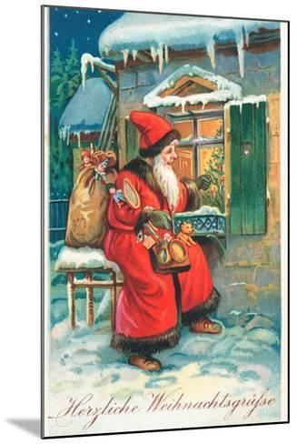 Father Christmas-German School-Mounted Giclee Print
