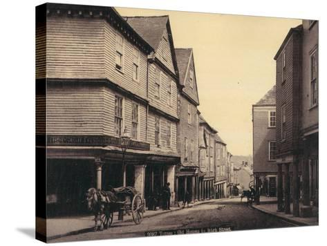Totnes, Old Houses in High Street--Stretched Canvas Print