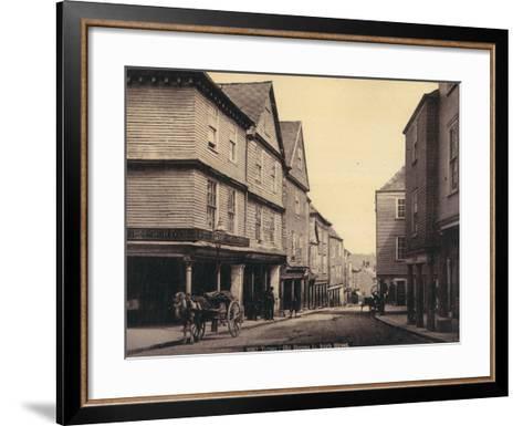 Totnes, Old Houses in High Street--Framed Art Print
