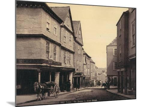 Totnes, Old Houses in High Street--Mounted Photographic Print