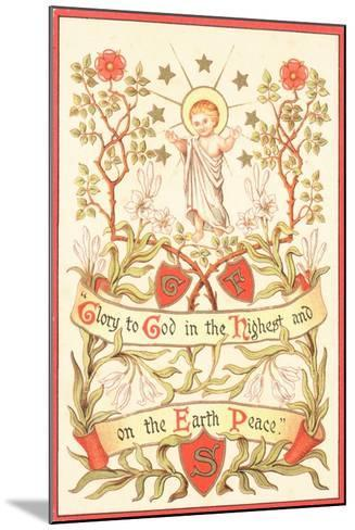 Angel with Arms Raised, Christmas Card--Mounted Giclee Print
