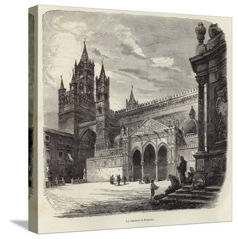 The Cathedral of Palermo-Gustave Bauernfeind-Stretched Canvas Print