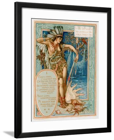 Miss America as La Belle Sauvage Fancy Free-Walter Crane-Framed Art Print