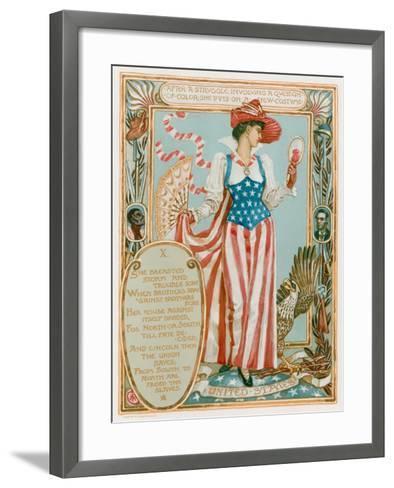 After a Struggle Involving a Question of Colour-Walter Crane-Framed Art Print
