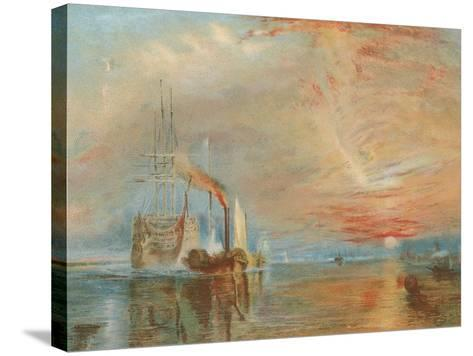 The Old Temeraire Tugged to Her Last Berth-J^ M^ W^ Turner-Stretched Canvas Print