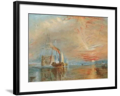 The Old Temeraire Tugged to Her Last Berth-J^ M^ W^ Turner-Framed Art Print