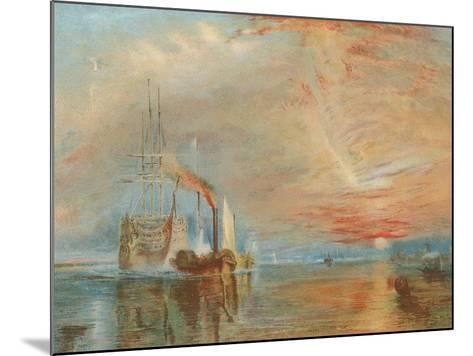 The Old Temeraire Tugged to Her Last Berth-J^ M^ W^ Turner-Mounted Giclee Print