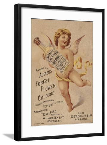 Cherub Holding Cologne Bottle--Framed Art Print