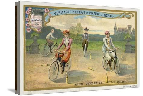 Jeux Cyclistes, Cycling around Skittles in France--Stretched Canvas Print