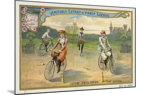 Jeux Cyclistes, Cycling around Skittles in France--Mounted Giclee Print