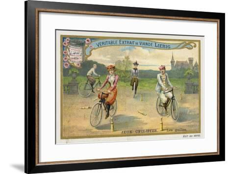 Jeux Cyclistes, Cycling around Skittles in France--Framed Art Print