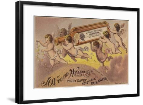 Flying Cherubs Carrying Medicine Bottle--Framed Art Print