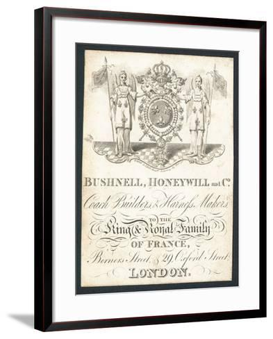 Bushnell, Honeywell and Co, Coach Builders and Harness Makers, Trade Card--Framed Art Print