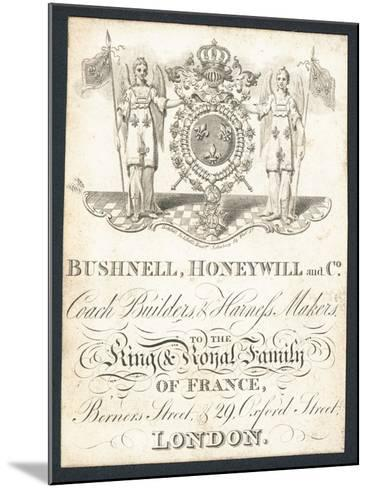 Bushnell, Honeywell and Co, Coach Builders and Harness Makers, Trade Card--Mounted Giclee Print