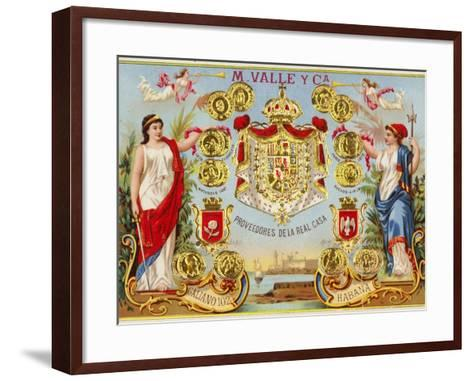 Cuban Cigar Box Label--Framed Art Print