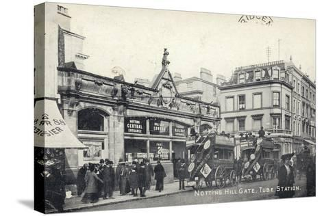 Notting Hill Gate, Tube Station, London--Stretched Canvas Print