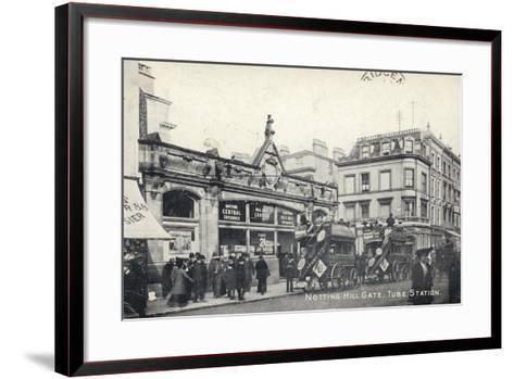 Notting Hill Gate, Tube Station, London--Framed Art Print