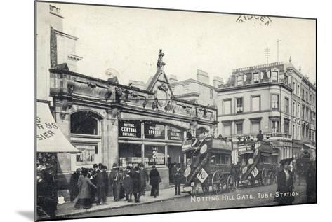 Notting Hill Gate, Tube Station, London--Mounted Photographic Print