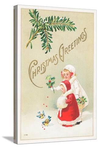 British Christmas Card--Stretched Canvas Print