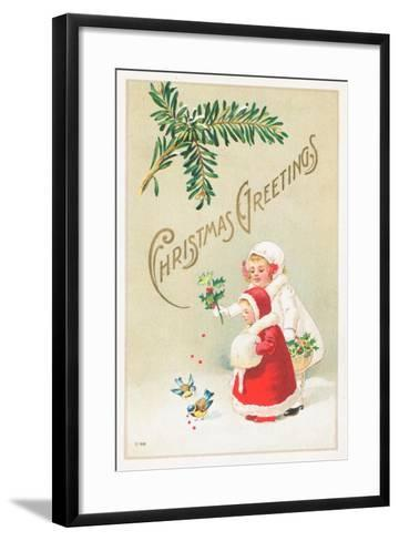 British Christmas Card--Framed Art Print