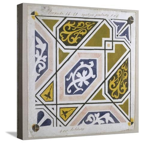 Catalan Modernism. Original Desing of Tile for the Decoration of the Guell Palace. Artist Antoni?--Stretched Canvas Print