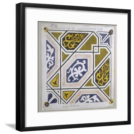 Catalan Modernism. Original Desing of Tile for the Decoration of the Guell Palace. Artist Antoni?--Framed Art Print