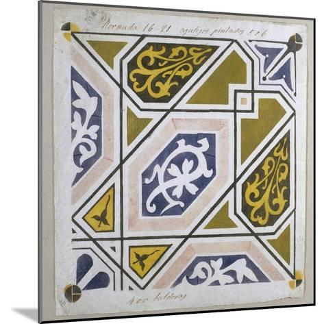 Catalan Modernism. Original Desing of Tile for the Decoration of the Guell Palace. Artist Antoni?--Mounted Giclee Print