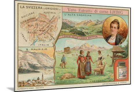 Switzerland--Mounted Giclee Print