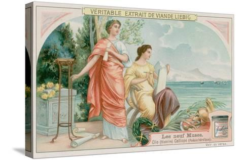 Clio (History) and Calliope (Heroic Poetry)--Stretched Canvas Print